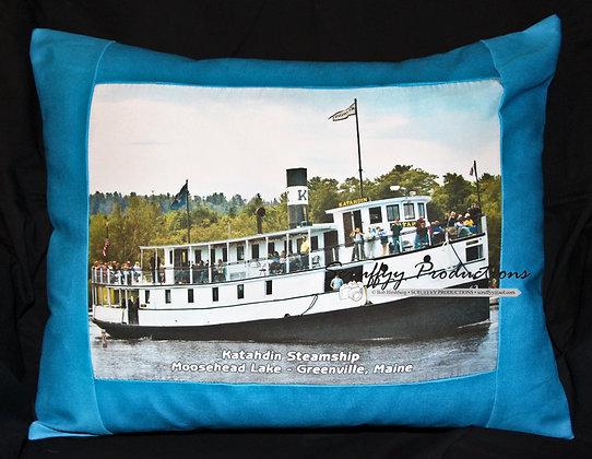 Katahdin Steamship Pillow by Artisan Bob Hirshberg