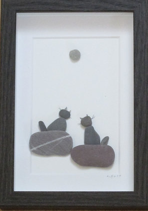 What do you Think?,  Framed Wall Hanging by Artisan Lisa Holt