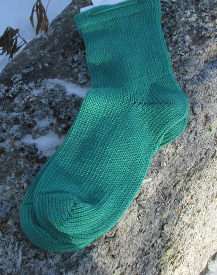 Emerald Bamboo Cotton Handknit Socks