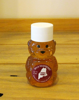 Mini Honey Bear - Wild Raspberry by Artisan Swans Honey