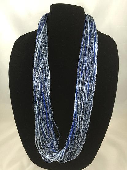 Navy Royal Shimmer Necklace