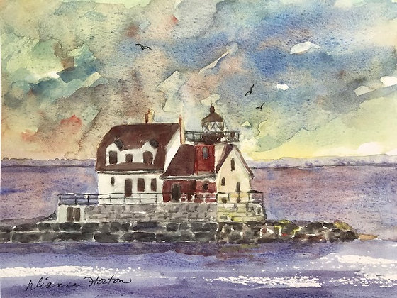 Rockland Breakwater Light Print by Artisan Dianne Horton