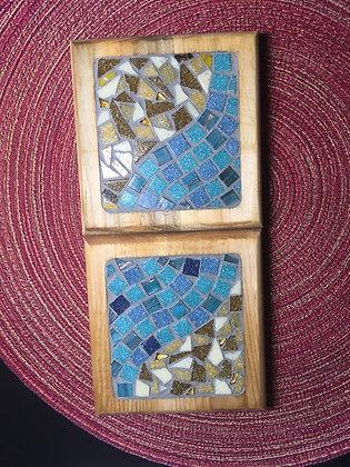 Seahorse Coaster set made by Angela Maniak