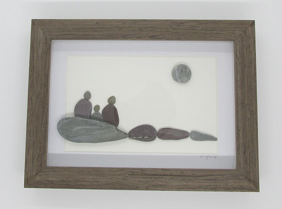 Perfect Family Time, Framed Wall Hanging by Artisan Lisa Holt
