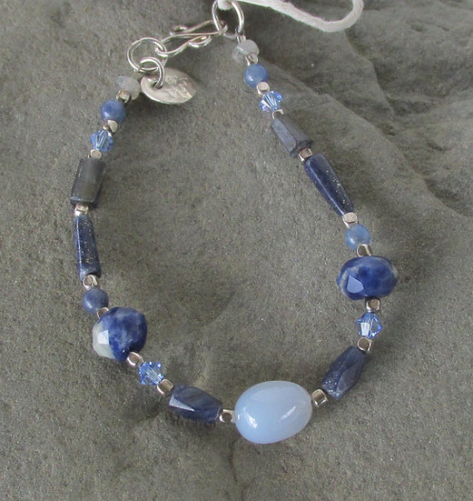 Water Element Bracelet with Healing Stones