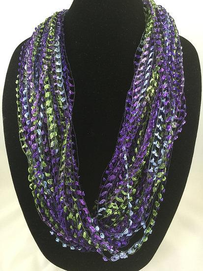 Mardi Gras Moonstone  Necklace