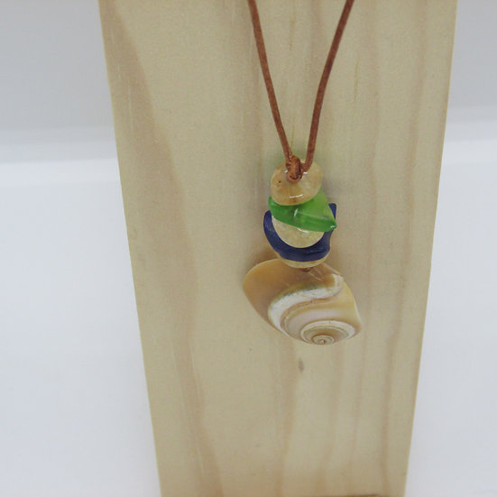 Leather and Copper Pendant
