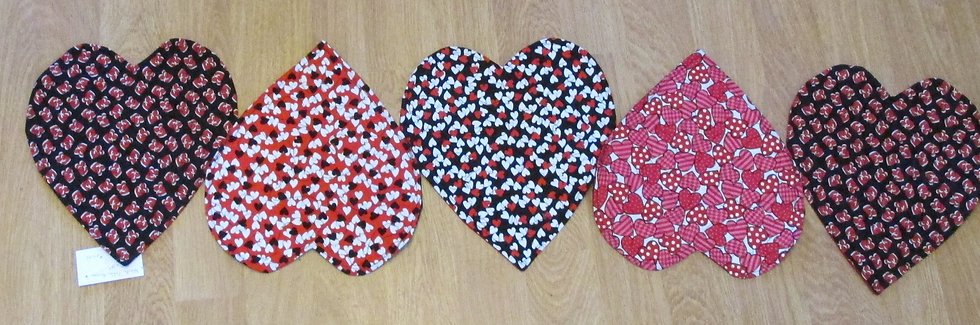 Heart Table Runner by Artisan May Bouchard