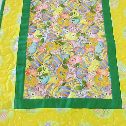 Reversible table runner made by May Bouchard