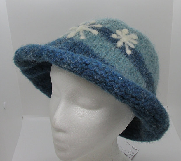 A Snowy Day Inspired, Felted Wool Hat