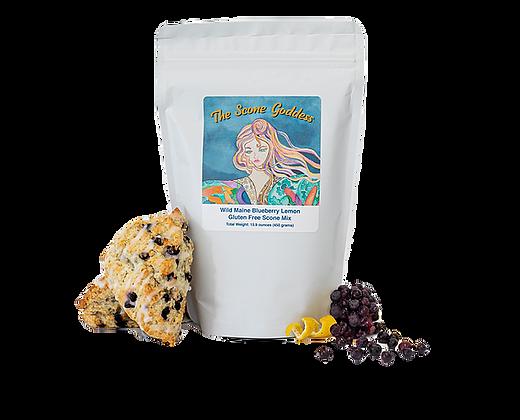 Gluten Free Wild Maine Blueberry Lemon Scone Mix by Artisan The Scone Goddess