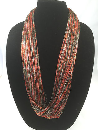 Ruby Shimmer Necklace by Artisan Jane Arey