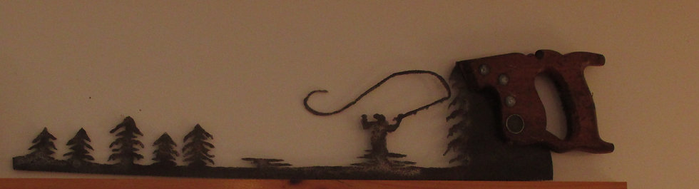 Fly Fishing  Saw Wall Hanging