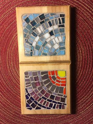 Dusk and Daylight Coaster set made by Angela Maniak