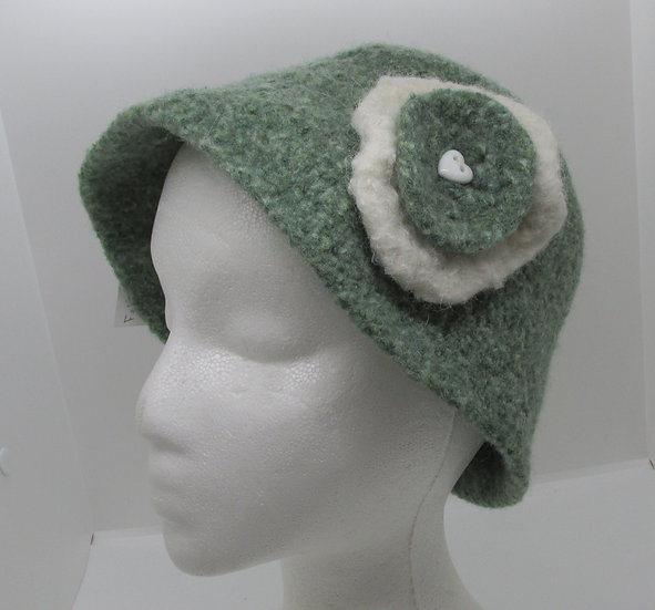 Spring Bloom Inspired, Felted Wool Hat