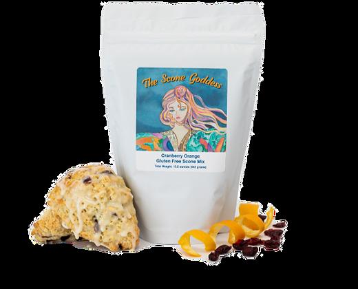 Gluten Free Cranberry Orange Scone Mix by Artisan The Scone Goddess