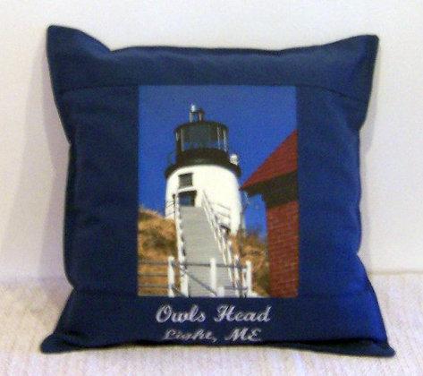 Owls Head LightHouse Pillow by Artisan Pillow World