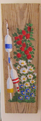 A Splash of Red Hand Painted on Driftwood by Artisan Candace McKellar