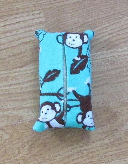 Flannel Monkey Tissue Holder