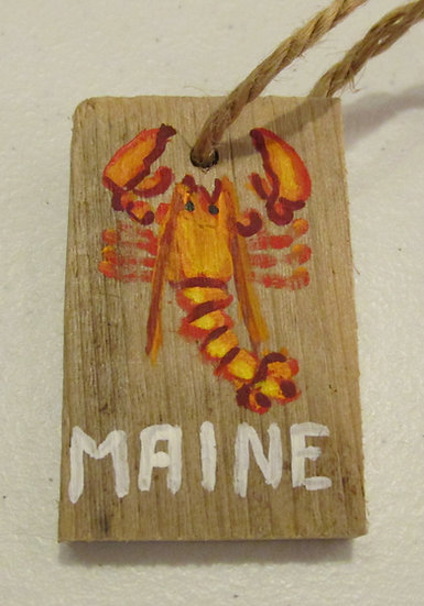 Hand painted Maine Lobster ornament