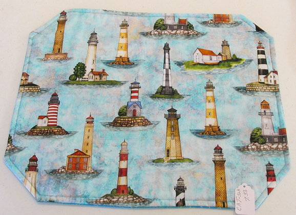 Lighthouse  Placemats by Artisan Pillow World