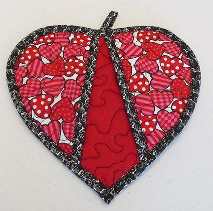 Seasonal Valentine Pot Holder by Artisan May Bouchard