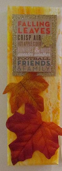 Fall, Poured Acrylic Art