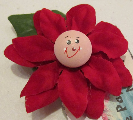 Poinsettia Holiday Pin by Artisan Marilyn Parker