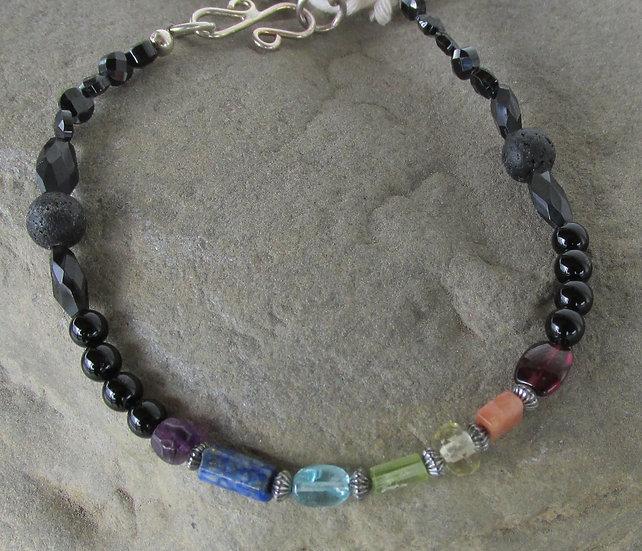 Multi Stone Chakra Diffuser Bracelet