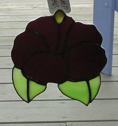 Hibiscus Stained Glass by Artisan Ralph Parks