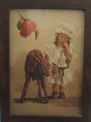 Girl with Calf by Artisan Tania Amazeen-Jones