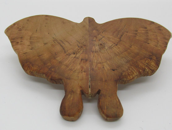 Burl Moth Barrette by Artisan Chris Gray