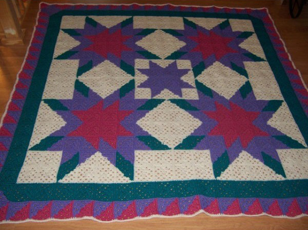 Ohio Star Crochet Afghan