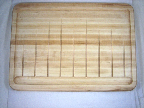 Maple Carving Board with Juice Grooves by Artisan Duane Butler