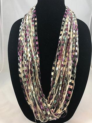 Raspberry Sage Jewel Necklace by Artisan Jane Arey