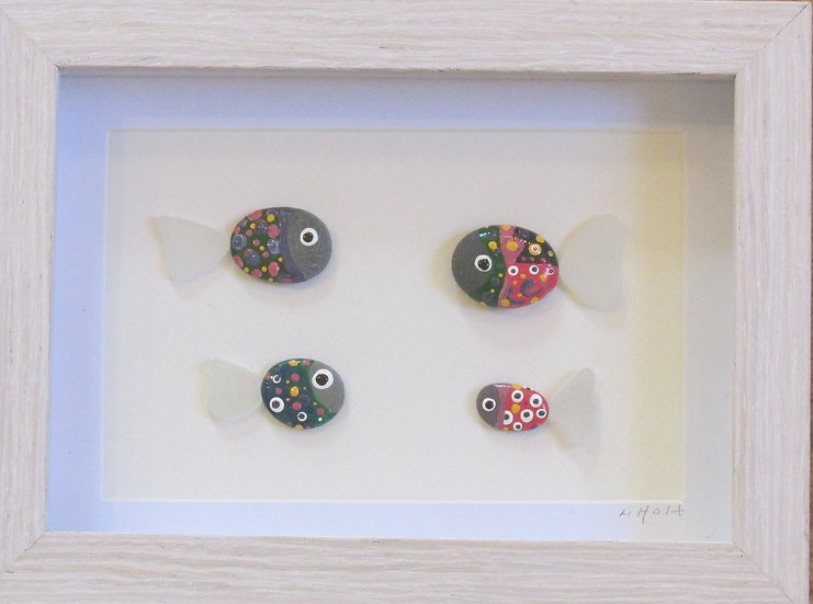 Fishing with 4, Framed Wall Hanging