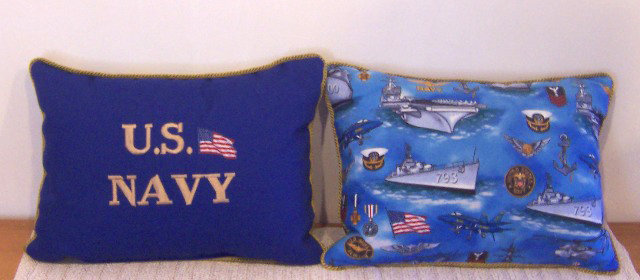 We Salute Our Navy by Artisan Pillow World
