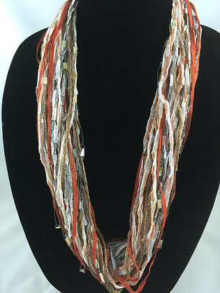 Copper Rustic Sparkle Jewel Necklace by Artisan Jane Arey