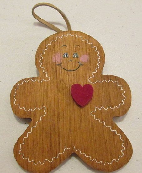Hand painted Gingerbread Man ornament