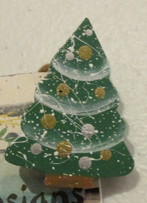 Tree Holiday Pin by Artisan Marilyn Parker