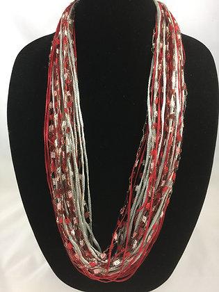 Holiday Crimson Jewel Necklace by Artisan Jane Arey