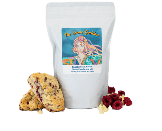 Gluten Free Raspberries & Cream Scone Mix by Artisan The Scone Goddess