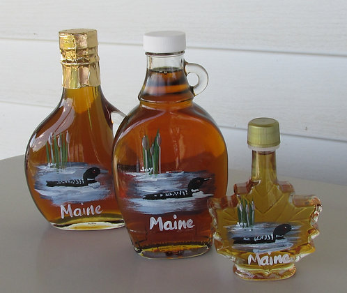 Hand Painted Loon Maple Syrup by Artisan The Sugar Shack