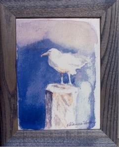 Seagull Framed, Ceramic Tile by Artisan Dianne Horton