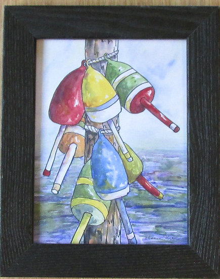 Buoy Hang Out. Framed Ceramic Tile