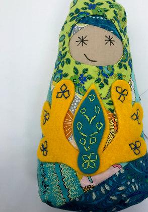 """Maggie"" BabiAnna Soft Faerie Doll by Artisan Kathy Beauregard"