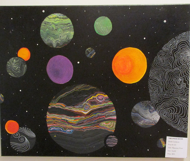 """Planetary ""Poured Acrylic Art"