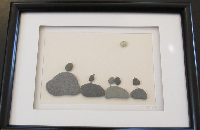 Follow The Leader,   Framed Wall Hanging by Artisan Lisa Holt