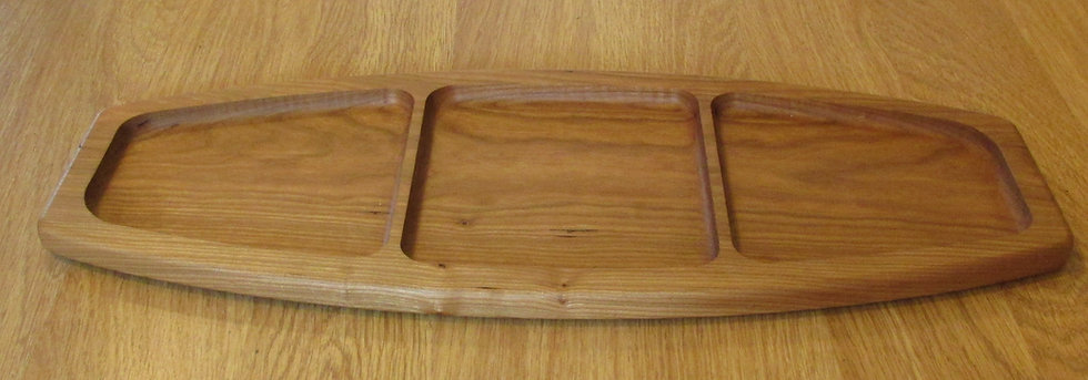 Handmade Divided Tray, Choice of Wood by Artisan Duane Butler