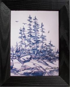Secret Cove, Framed Ceramic Tile